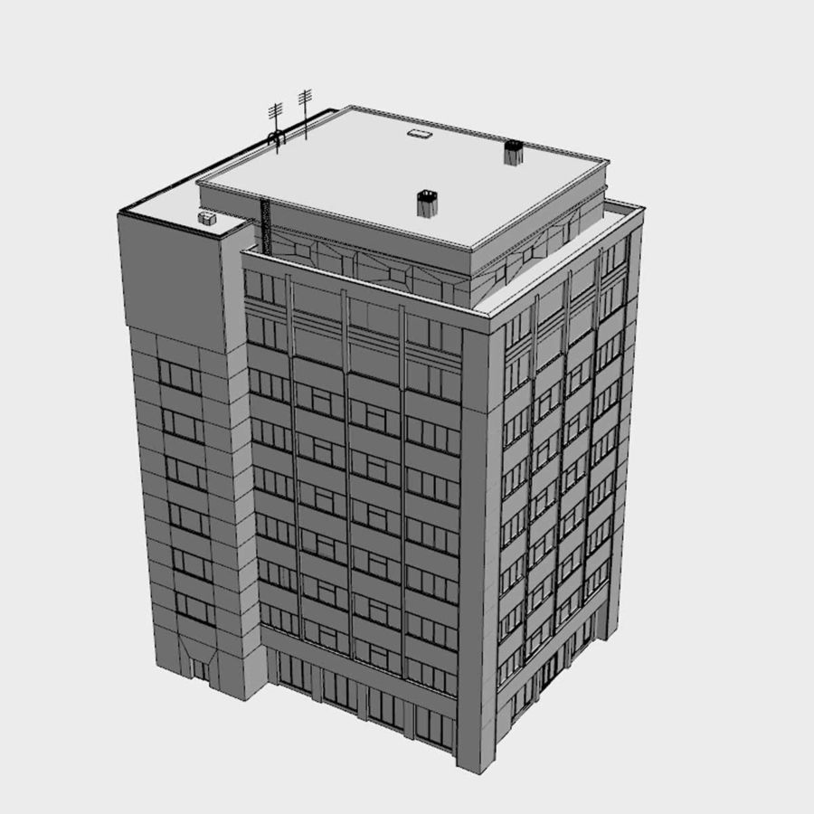 Building Office(1) royalty-free 3d model - Preview no. 8