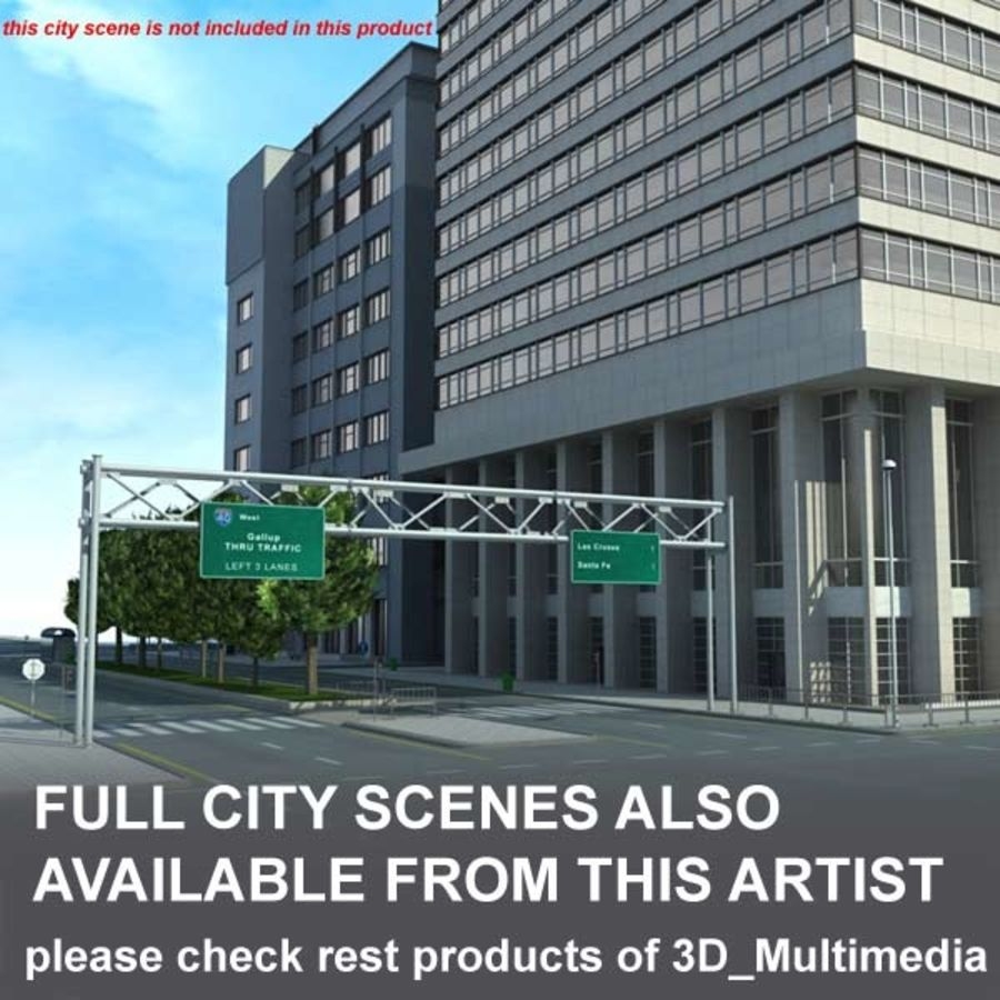 Building Office(1) royalty-free 3d model - Preview no. 10