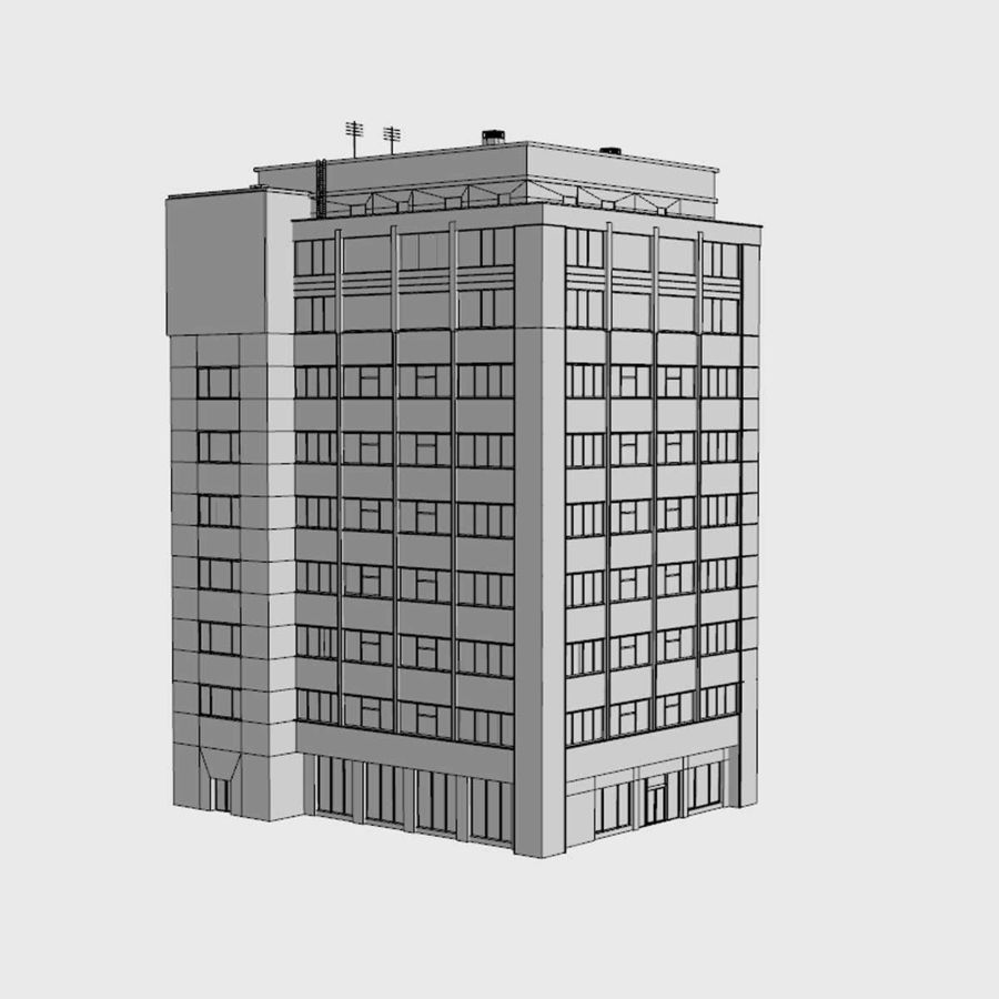 Building Office(1) royalty-free 3d model - Preview no. 7