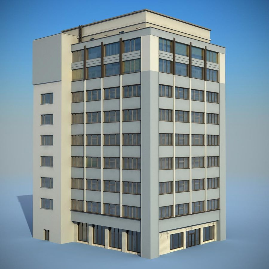 Building Office(1) royalty-free 3d model - Preview no. 2