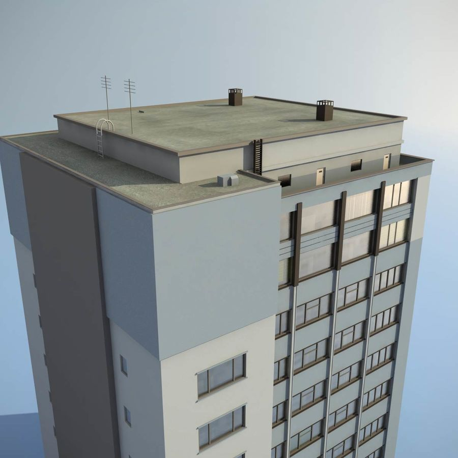 Building Office(1) royalty-free 3d model - Preview no. 4