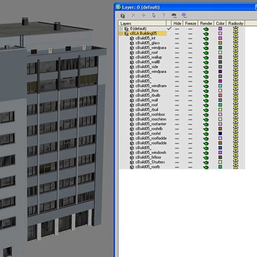 Building Office(1) royalty-free 3d model - Preview no. 9