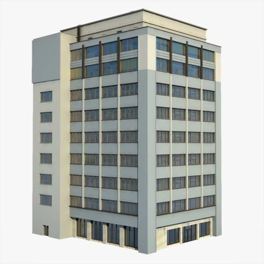 Building Office(1) royalty-free 3d model - Preview no. 1
