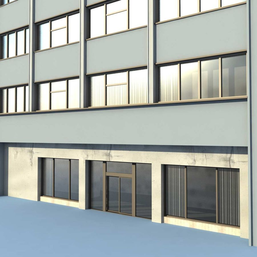 Building Office(1) royalty-free 3d model - Preview no. 5