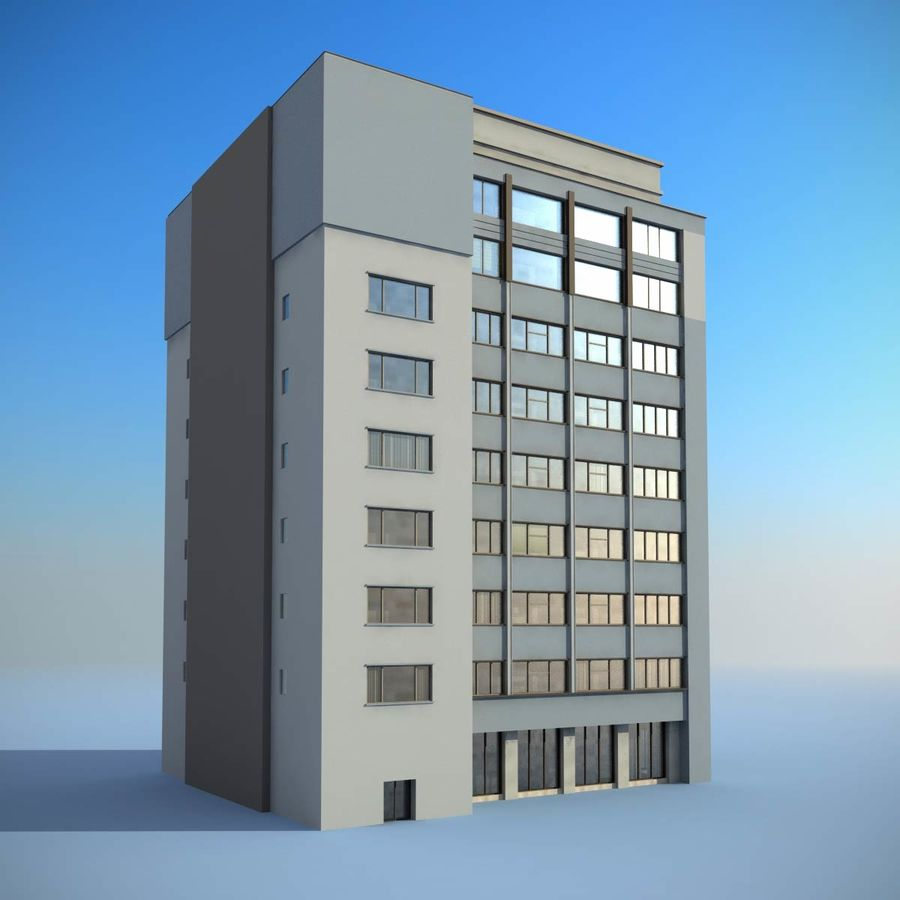 Building Office(1) royalty-free 3d model - Preview no. 3