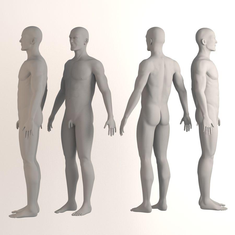 personaggio maschile royalty-free 3d model - Preview no. 2