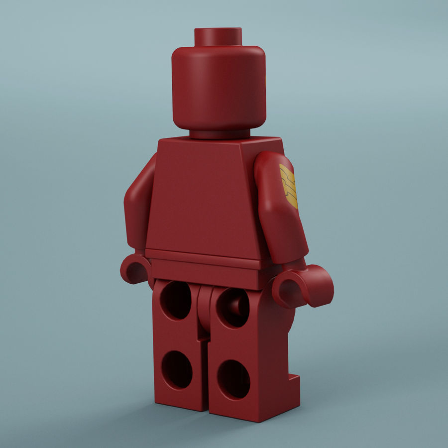 Lego Iron Man royalty-free 3d model - Preview no. 8