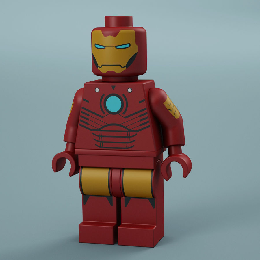 Lego Iron Man royalty-free 3d model - Preview no. 1