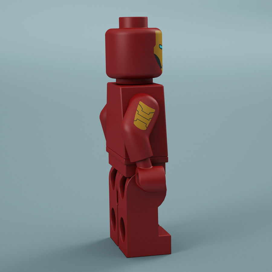 Lego Iron Man royalty-free 3d model - Preview no. 9