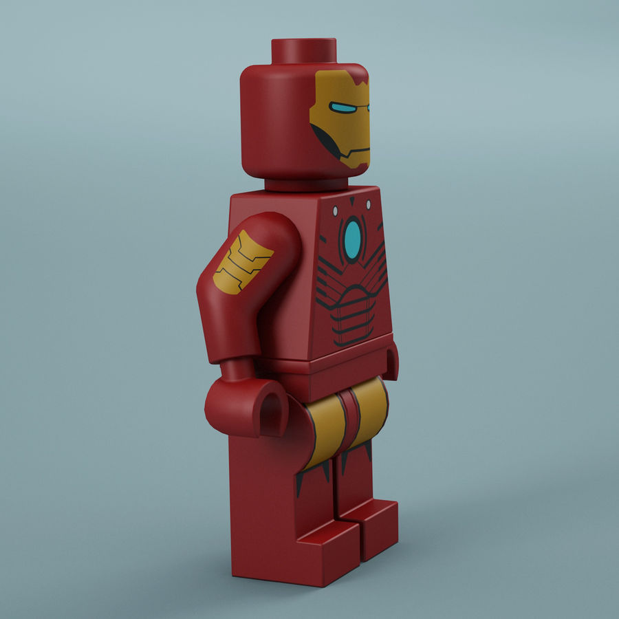 Lego Iron Man royalty-free 3d model - Preview no. 10