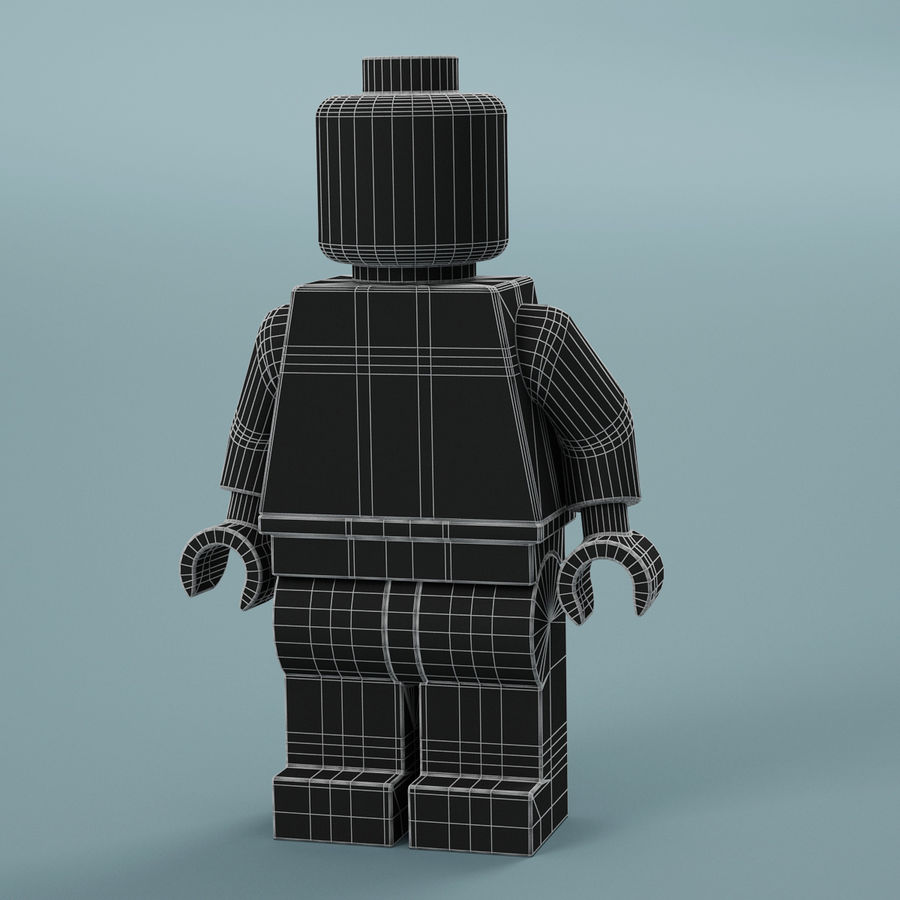 Lego Iron Man royalty-free 3d model - Preview no. 16