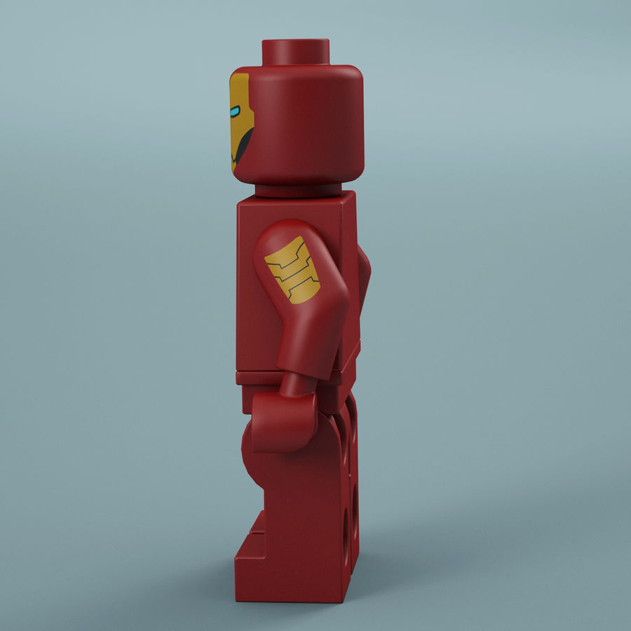 Lego Iron Man royalty-free 3d model - Preview no. 5