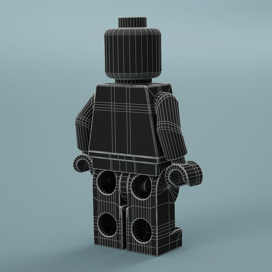 Lego Iron Man royalty-free 3d model - Preview no. 17