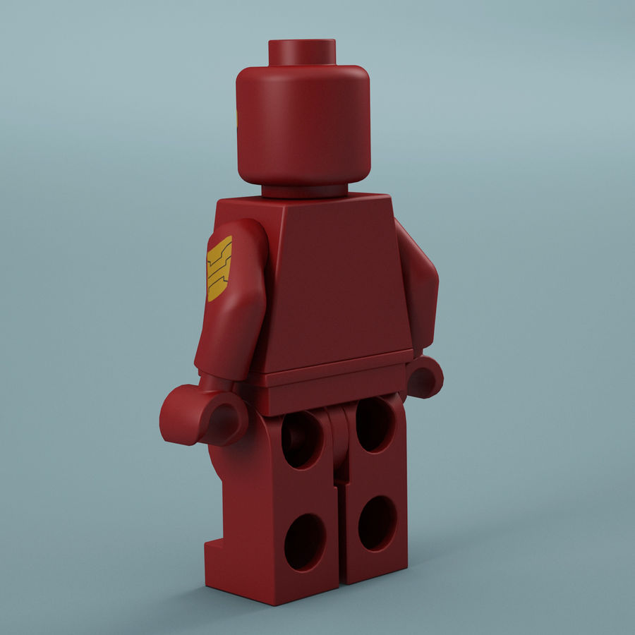 Lego Iron Man royalty-free 3d model - Preview no. 6