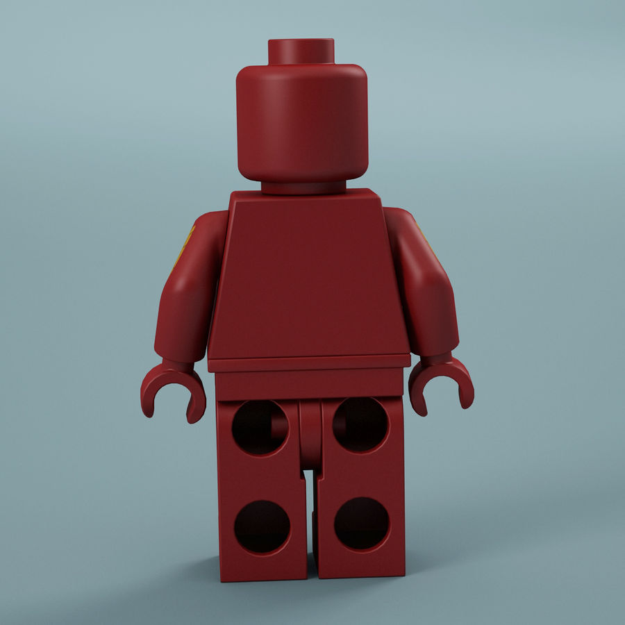 Lego Iron Man royalty-free 3d model - Preview no. 7