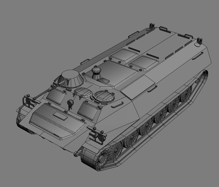 MT-LB Russian Army Armored Transport Tug Game Model royalty-free 3d model - Preview no. 26