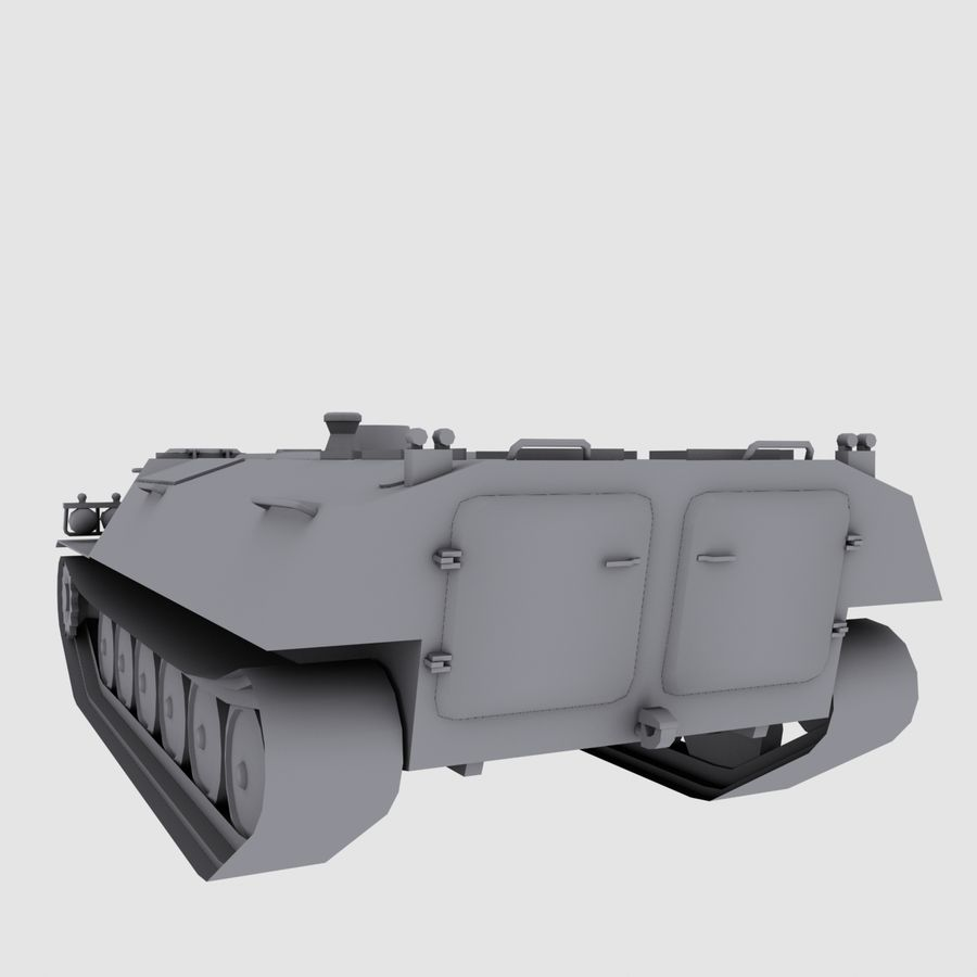 MT-LB Russian Army Armored Transport Tug Game Model royalty-free 3d model - Preview no. 7
