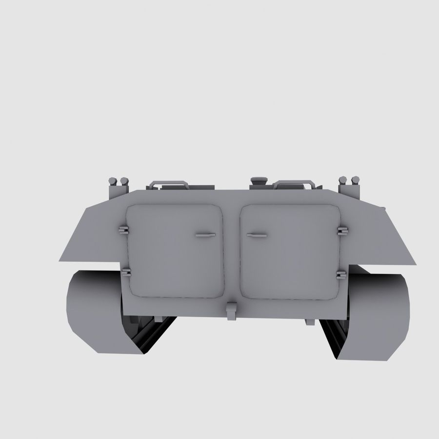 MT-LB Russian Army Armored Transport Tug Game Model royalty-free 3d model - Preview no. 6