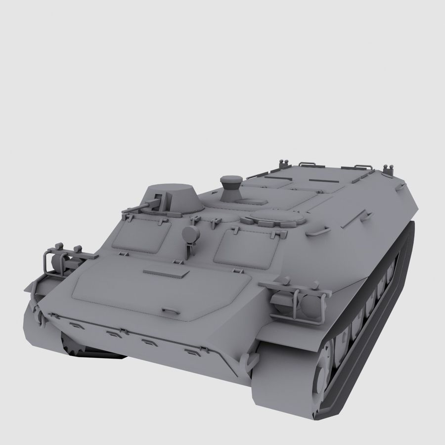 MT-LB Russian Army Armored Transport Tug Game Model royalty-free 3d model - Preview no. 12