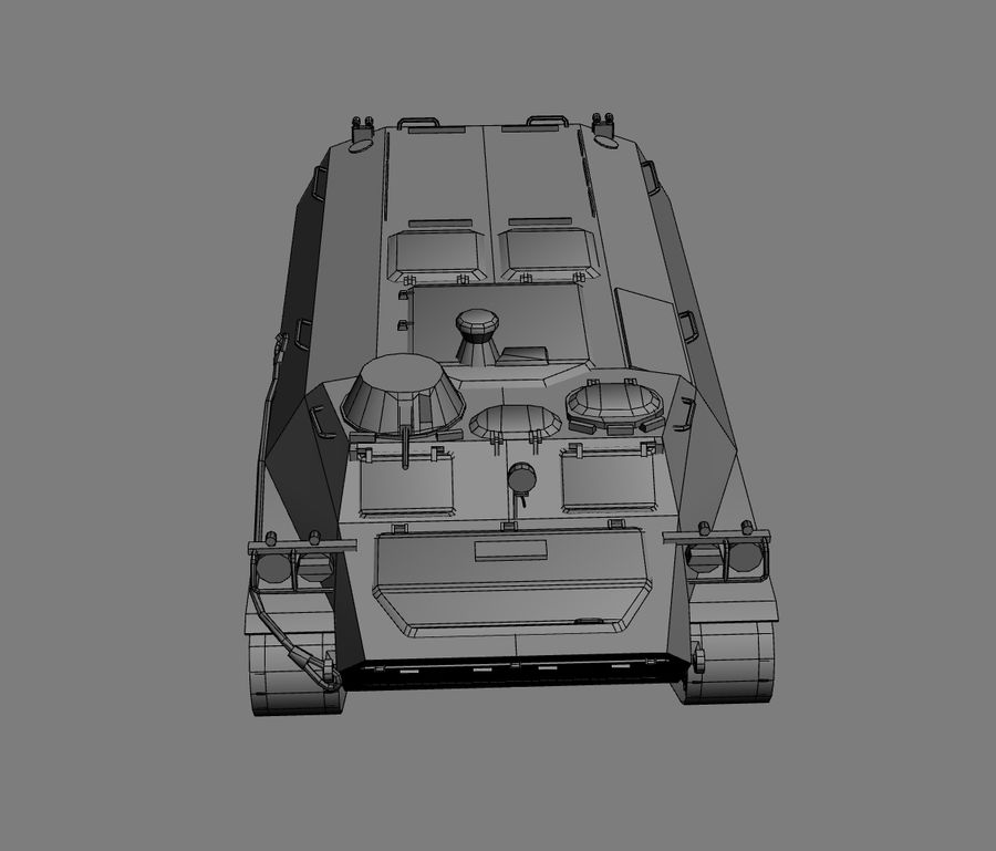 MT-LB Russian Army Armored Transport Tug Game Model royalty-free 3d model - Preview no. 19