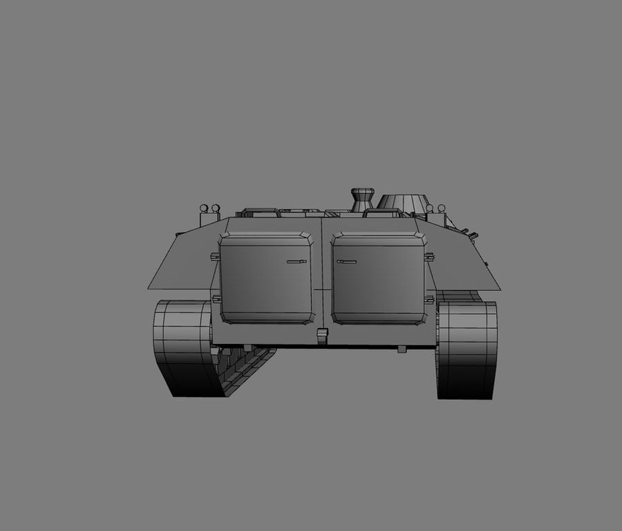 MT-LB Russian Army Armored Transport Tug Game Model royalty-free 3d model - Preview no. 22