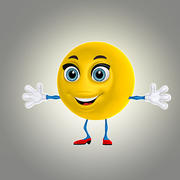 卡通笑脸2 3d model