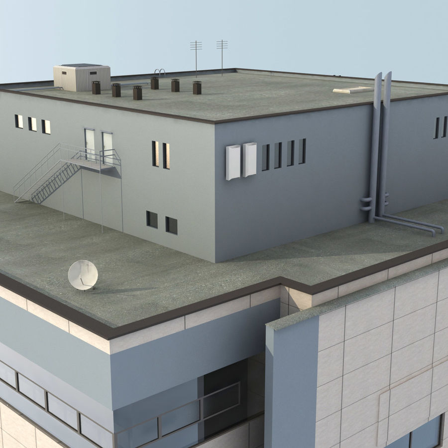 Building Office royalty-free 3d model - Preview no. 6