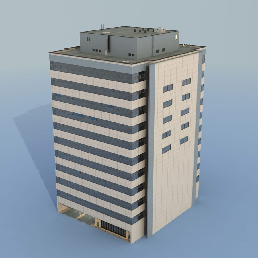 Building Office royalty-free 3d model - Preview no. 3