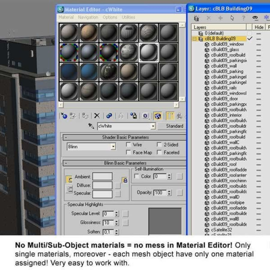 Building Office royalty-free 3d model - Preview no. 12