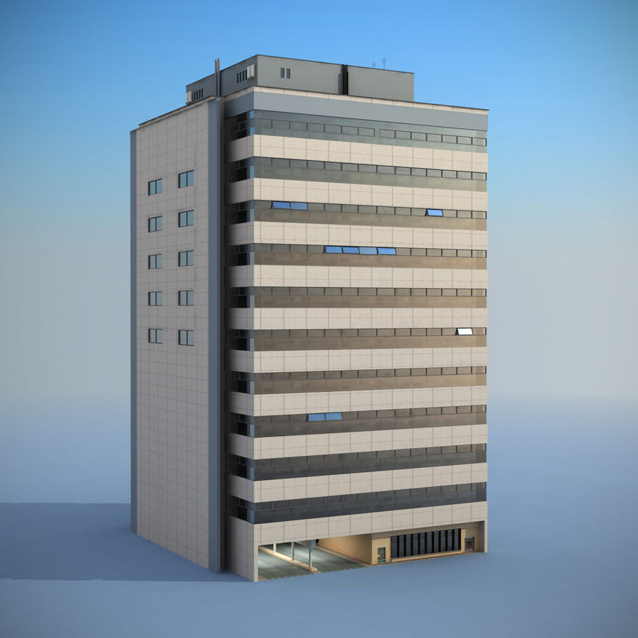 Building Office royalty-free 3d model - Preview no. 2