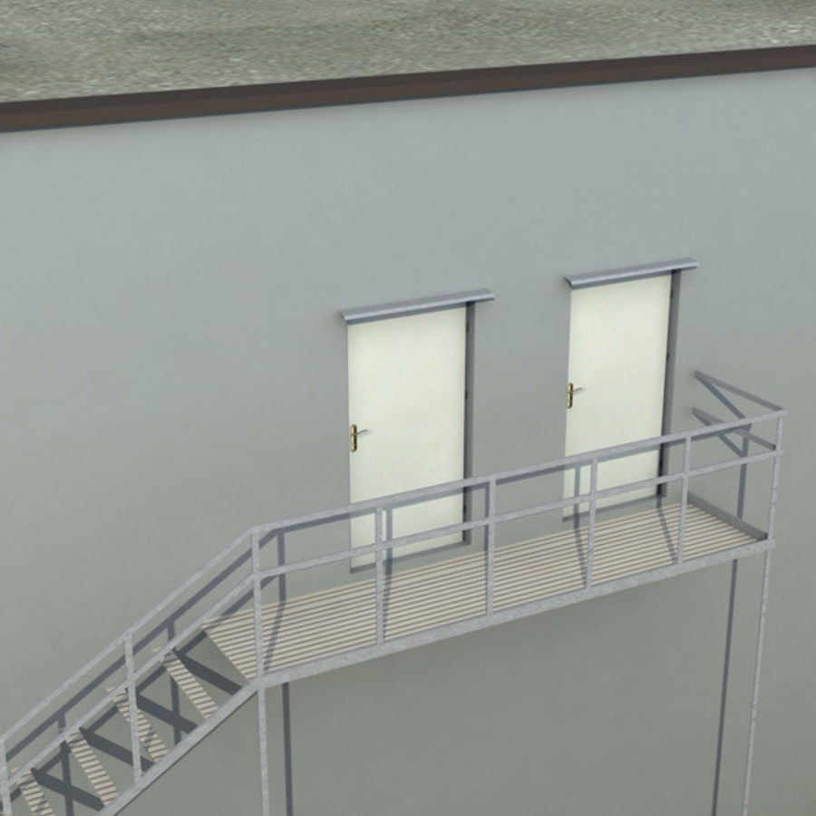 Building Office royalty-free 3d model - Preview no. 9