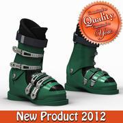 Down Hill Ski Boots 3d model