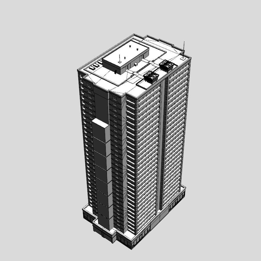 Building Skyscraper royalty-free 3d model - Preview no. 9