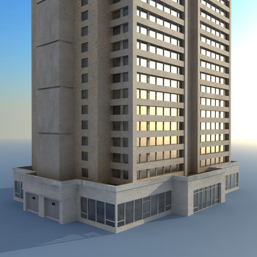Building Skyscraper royalty-free 3d model - Preview no. 5