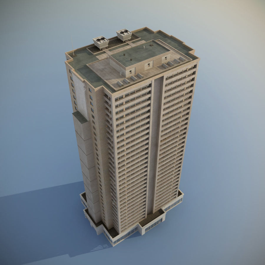 Building Skyscraper royalty-free 3d model - Preview no. 4