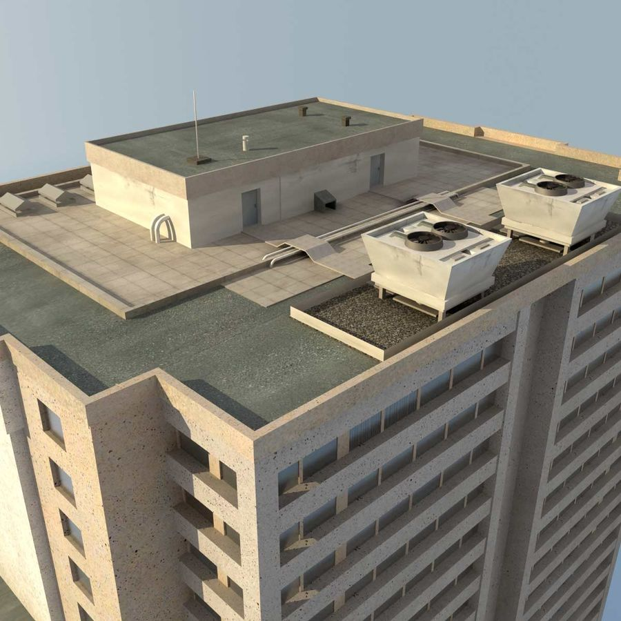 Building Skyscraper royalty-free 3d model - Preview no. 6