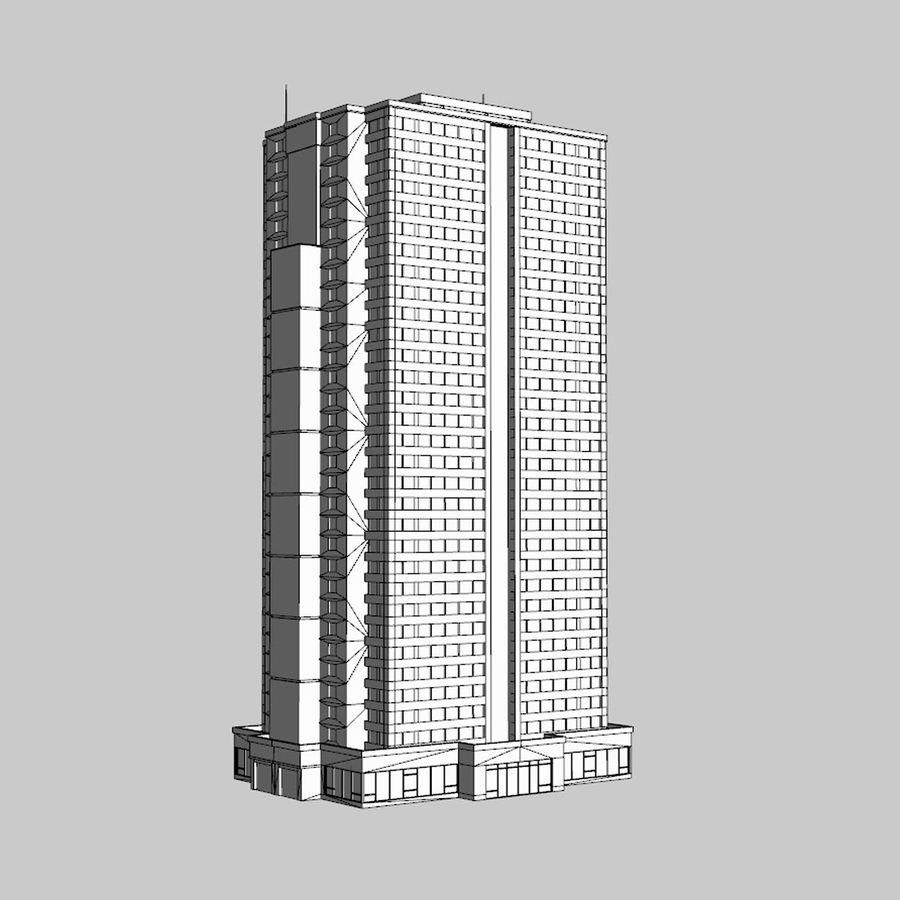 Building Skyscraper royalty-free 3d model - Preview no. 8