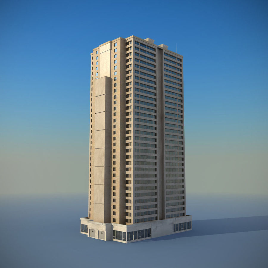 Building Skyscraper royalty-free 3d model - Preview no. 3