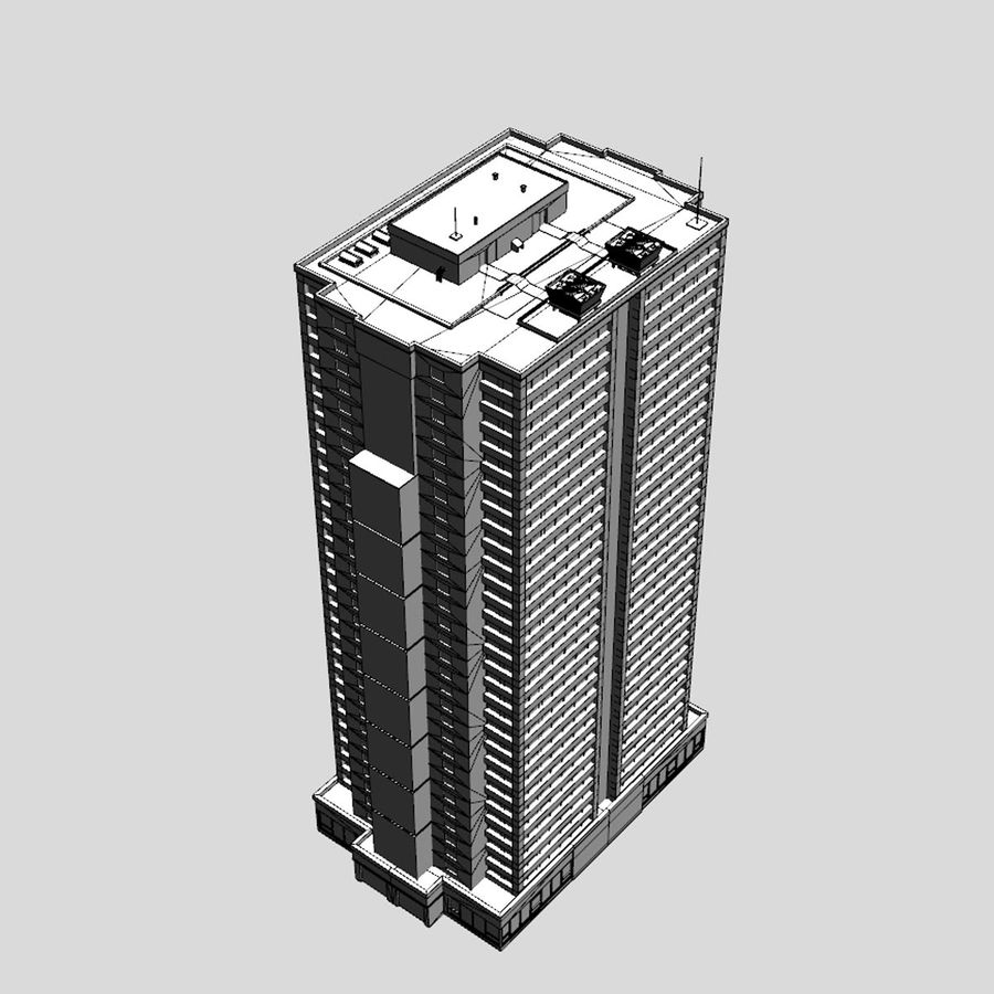 Building Skyscraper royalty-free 3d model - Preview no. 9