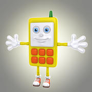 만화 전화 1 3d model