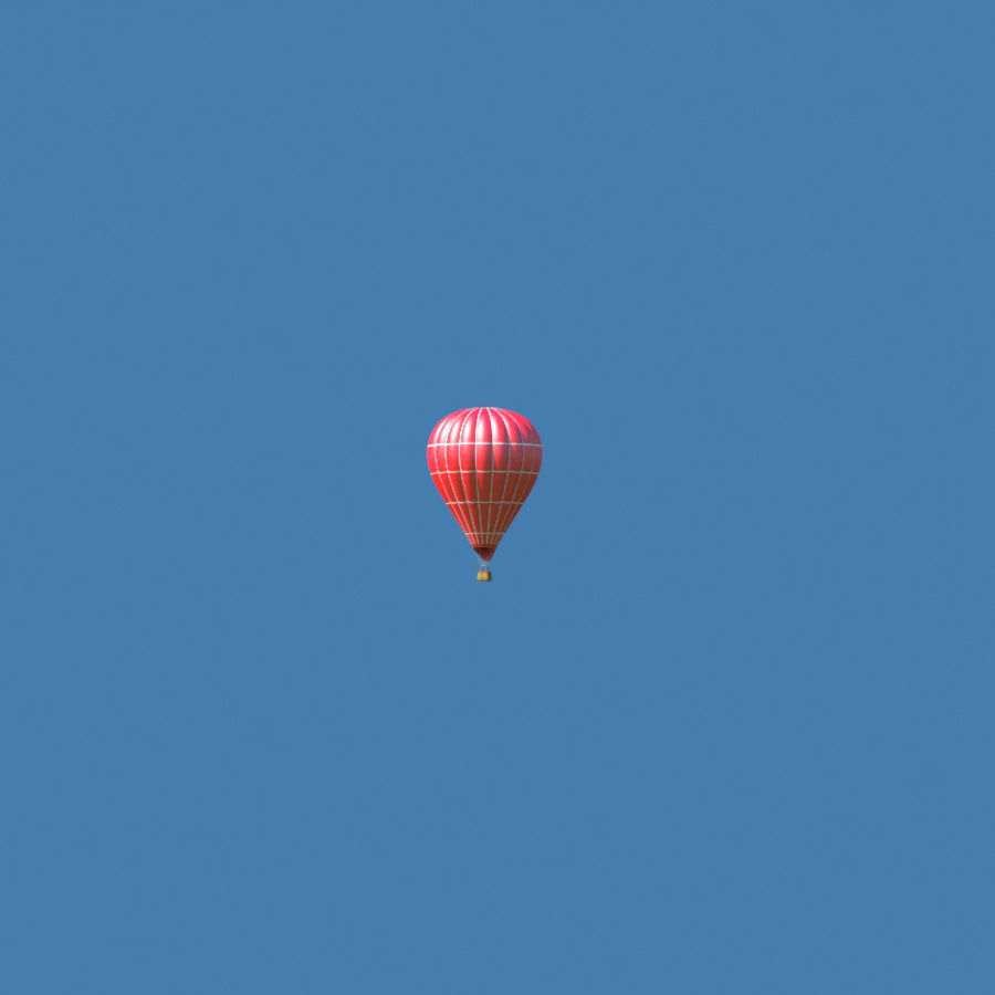 Hot Air Balloon royalty-free 3d model - Preview no. 6