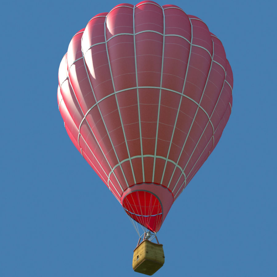 Hot Air Balloon royalty-free 3d model - Preview no. 1