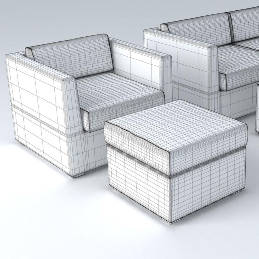 Polyrattan möbel uppsättning royalty-free 3d model - Preview no. 7