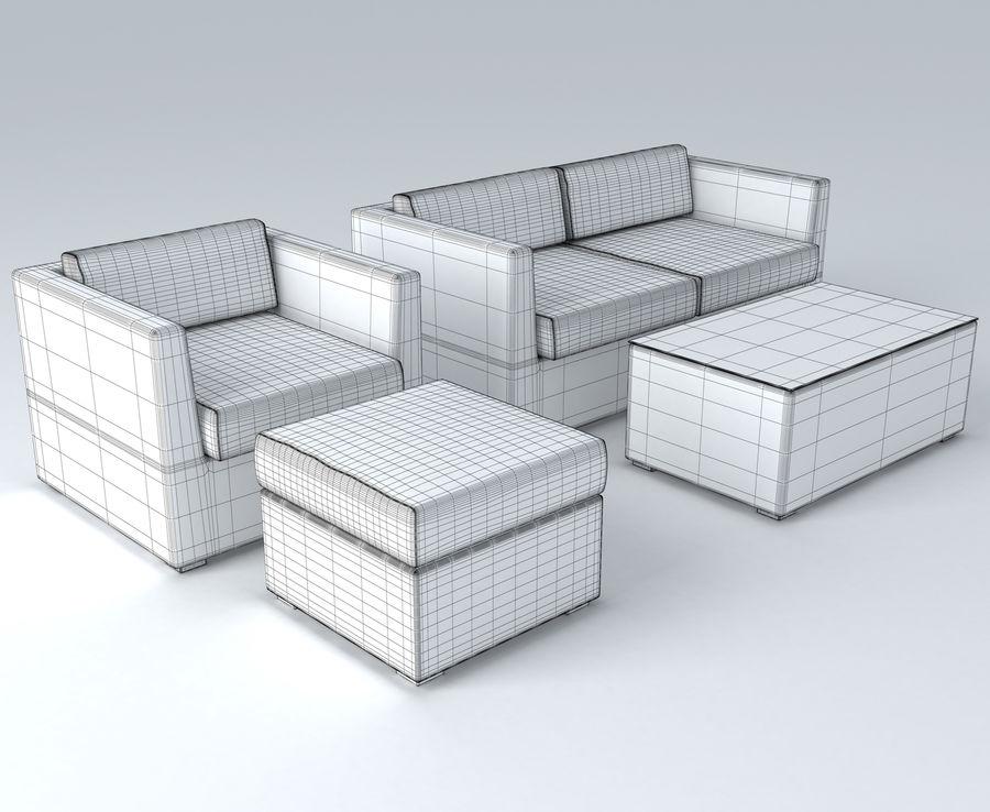 Polyrattan möbel uppsättning royalty-free 3d model - Preview no. 6