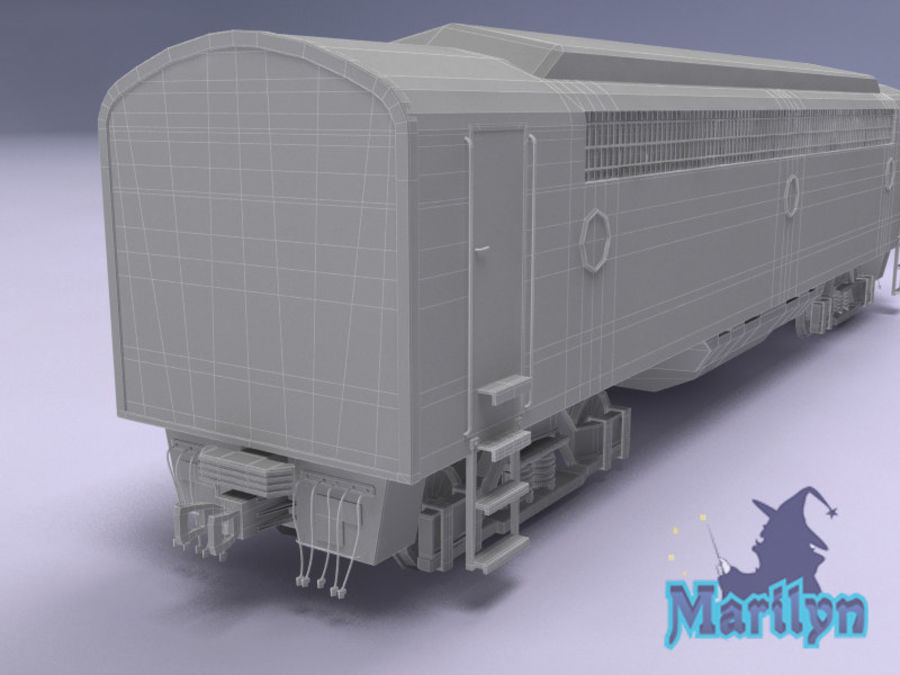 вагон royalty-free 3d model - Preview no. 10