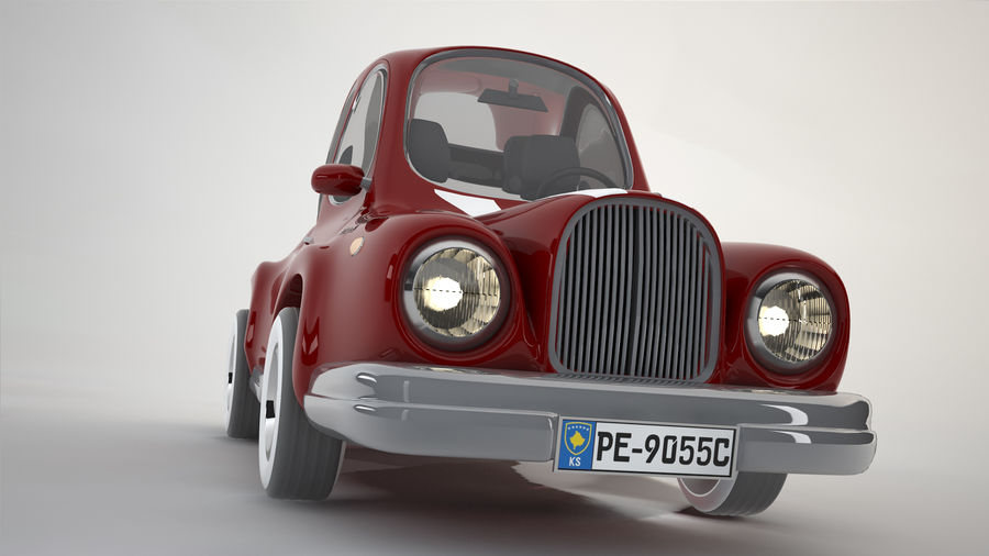 Мультфильм автомобиль royalty-free 3d model - Preview no. 3