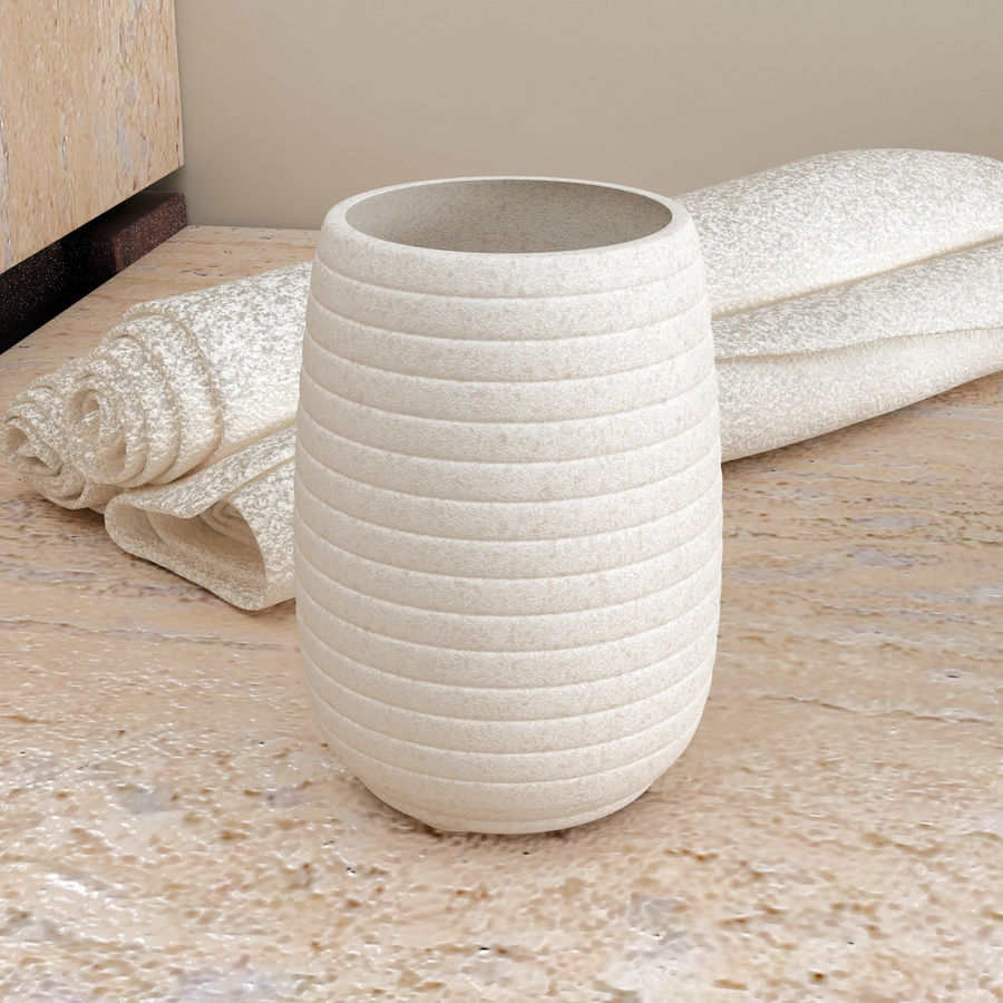John Lewis Mint Sandstone Bathroom Accessories Range 3D Model $29 ...