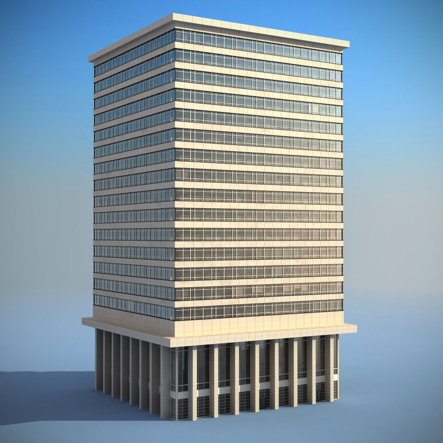 Office Building(1) royalty-free 3d model - Preview no. 2