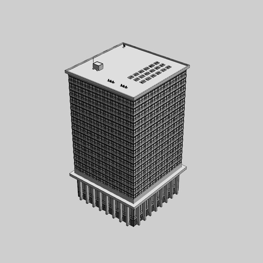 Office Building(1) royalty-free 3d model - Preview no. 8