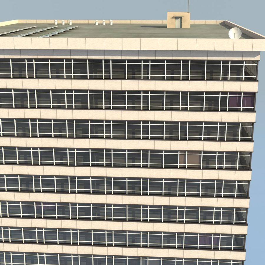 Office Building(1) royalty-free 3d model - Preview no. 6